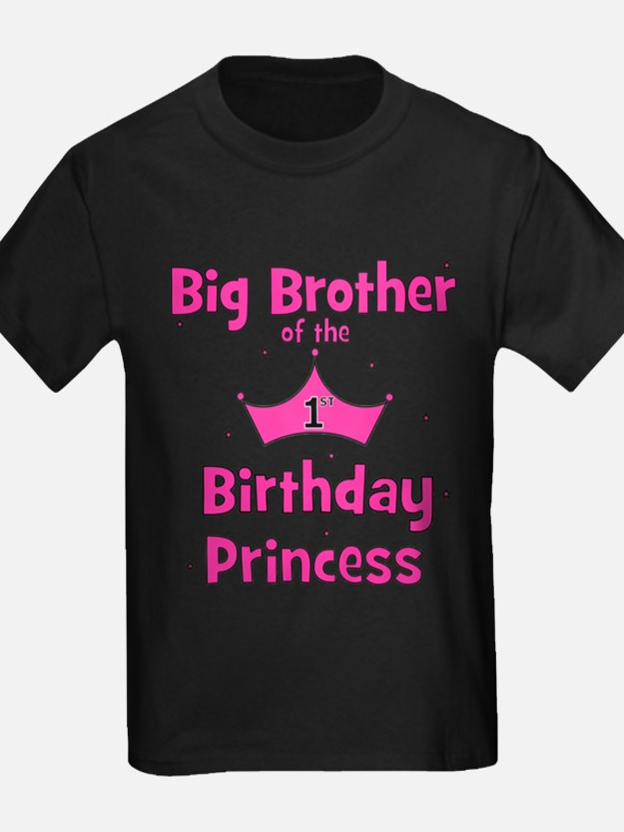 ofthebirthdayprincess_bigbrother_pink T-Shirt