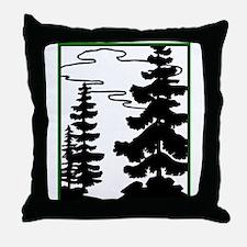 MP Logo with green border Throw Pillow