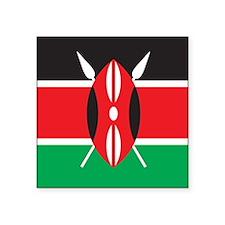 "Kenya Square Sticker 3"" x 3"""