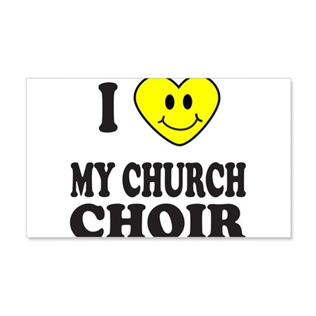 CHURCH CHOIR 20x12 Wall Decal