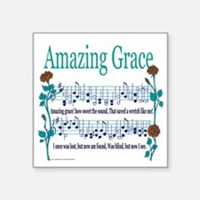 "Amazing Grace Lyrics.png Square Sticker 3"" x 3"""
