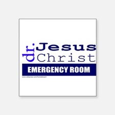 "DOCTOR JESUS Square Sticker 3"" x 3"""
