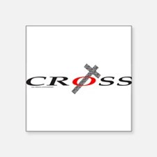 "3-Cross0002.png Square Sticker 3"" x 3"""