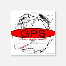 "GPS Square Sticker 3"" x 3"""