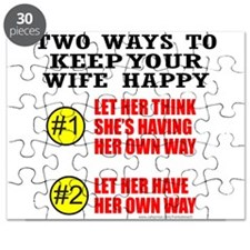 KEEP YOUR WIFE HAPPY Puzzle