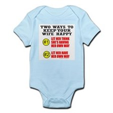 KEEP YOUR WIFE HAPPY Infant Bodysuit