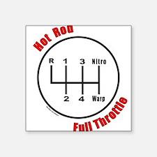 "HotRodFullThrottle.png Square Sticker 3"" x 3"""