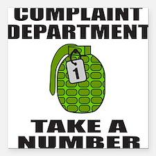 "ComplaintDepartment.png Square Car Magnet 3"" x 3"""