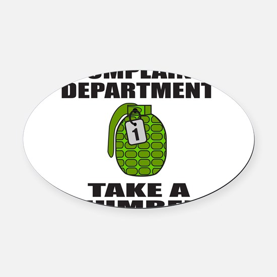 ComplaintDepartment.png Oval Car Magnet