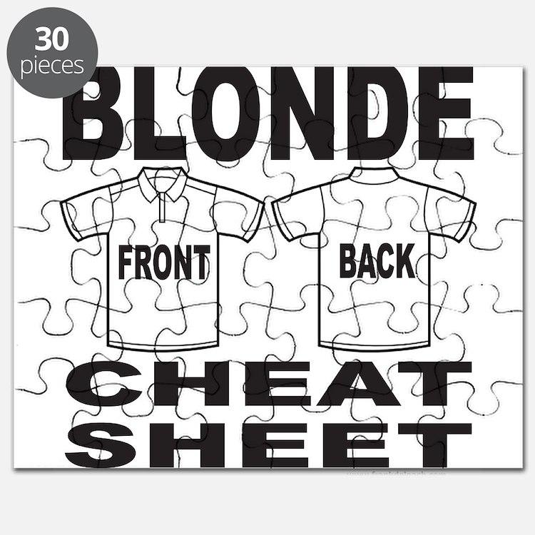 Dumb Blonde Joke Puzzles, Dumb Blonde Joke Jigsaw Puzzle