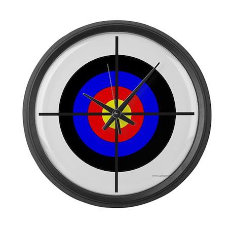 Bullseye target large wall clock by frankdeloach for Large wall clocks target