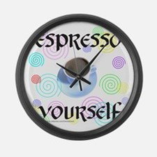 ESPRESSO YOURSELF Large Wall Clock