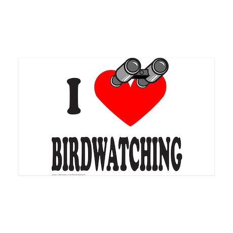 I HEART BIRDWATCHING 35x21 Wall Decal