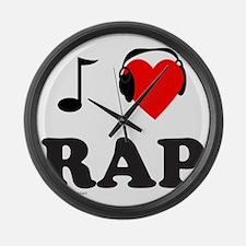 RAP MUSIC Large Wall Clock