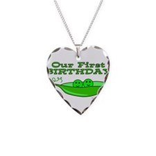 TWINS' FIRST BIRTHDAY Necklace Heart Charm