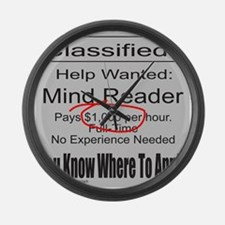 MIND READER Large Wall Clock