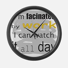 FacinatedByWork.png Large Wall Clock