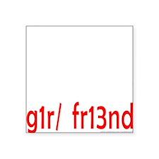 """NERD/GEEK Square Sticker 3"""" x 3"""""""