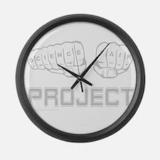 Cute Science fair Large Wall Clock
