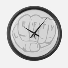 Cute Left handed humor Large Wall Clock