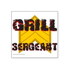 "GRILL SERGEANT Square Sticker 3"" x 3"""