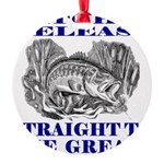 CATCH AND RELEASE Round Ornament