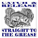 CATCH AND RELEASE Square Car Magnet 3