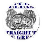 CATCH AND RELEASE Round Car Magnet
