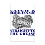 CATCH AND RELEASE Mini Poster Print