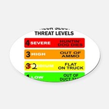 REDNECK SECURITY THREAT Oval Car Magnet