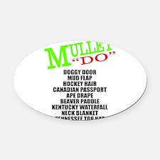 MULLET Oval Car Magnet