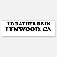 Rather: LYNWOOD Bumper Bumper Bumper Sticker