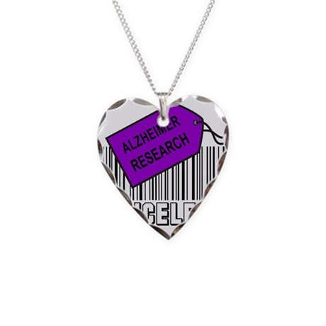 ALZHEIMER CAUSE Necklace Heart Charm