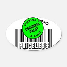 Cute Cerebral palsy Oval Car Magnet