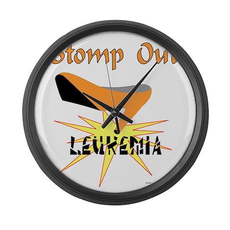 LEUKEMIA AWARENESS Large Wall Clock