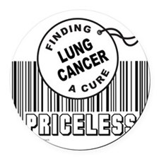 Cute Lung cancer Round Car Magnet