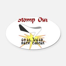 Unique Head neck cancer support Oval Car Magnet