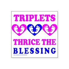 """Unique Newborn triplets Square Sticker 3"""" x 3"""""""