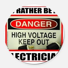 ELECTRICIAN Round Car Magnet