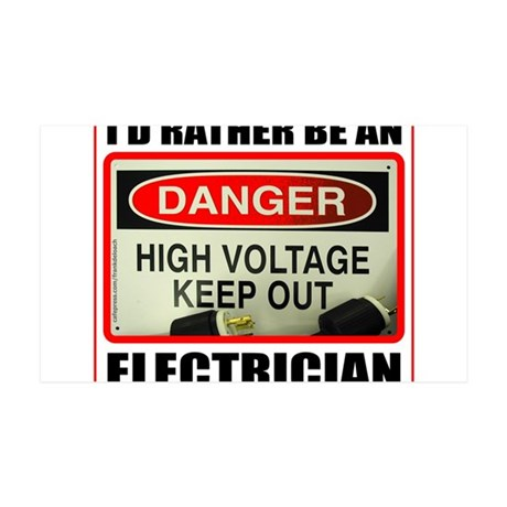 ELECTRICIAN 35x21 Wall Decal