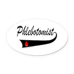 PHLEBOTOMIST Oval Car Magnet