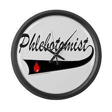 PHLEBOTOMIST Large Wall Clock
