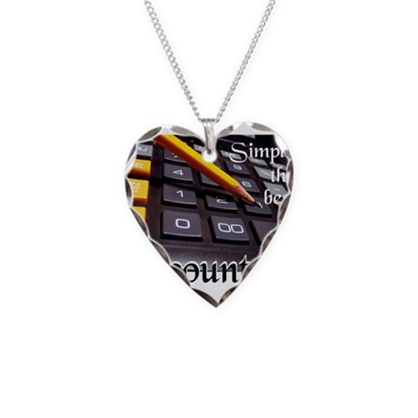 ACCOUNTANT Necklace Heart Charm