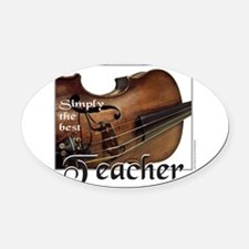 BEST TEACHER Oval Car Magnet