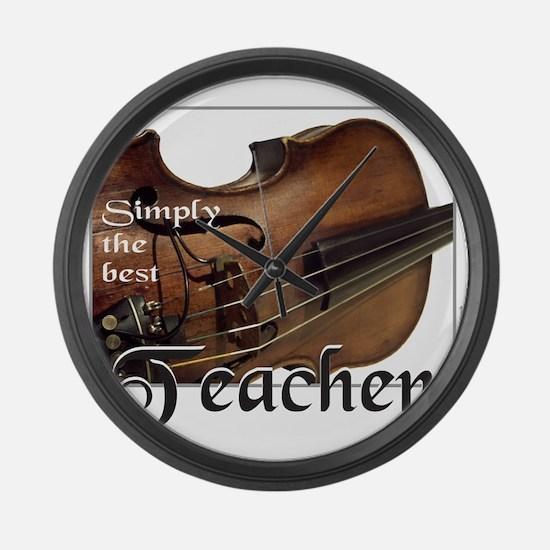 BEST TEACHER Large Wall Clock