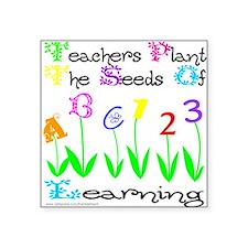 """Cute Pre school teacher Square Sticker 3"""" x 3"""""""