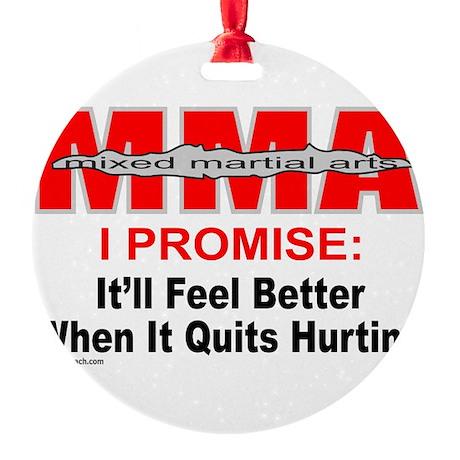 MMA MIXED MARTIAL ARTS Round Ornament