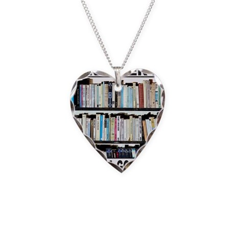 BOOK LOVER Necklace Heart Charm
