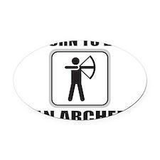 ARCHER/ARCHERY Oval Car Magnet