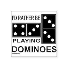 """DOMINO Square Sticker 3"""" x 3"""""""
